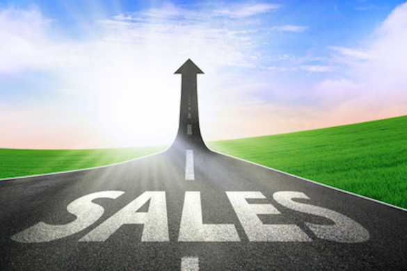 cesta v nebo ponazarja povečanje prodaje
