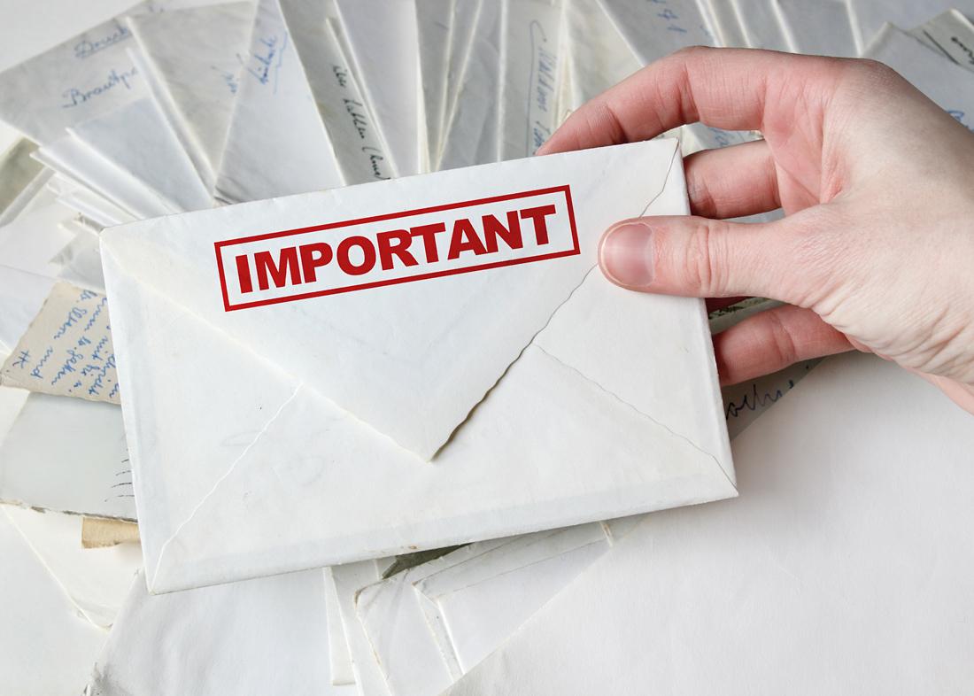 pomembno pismo