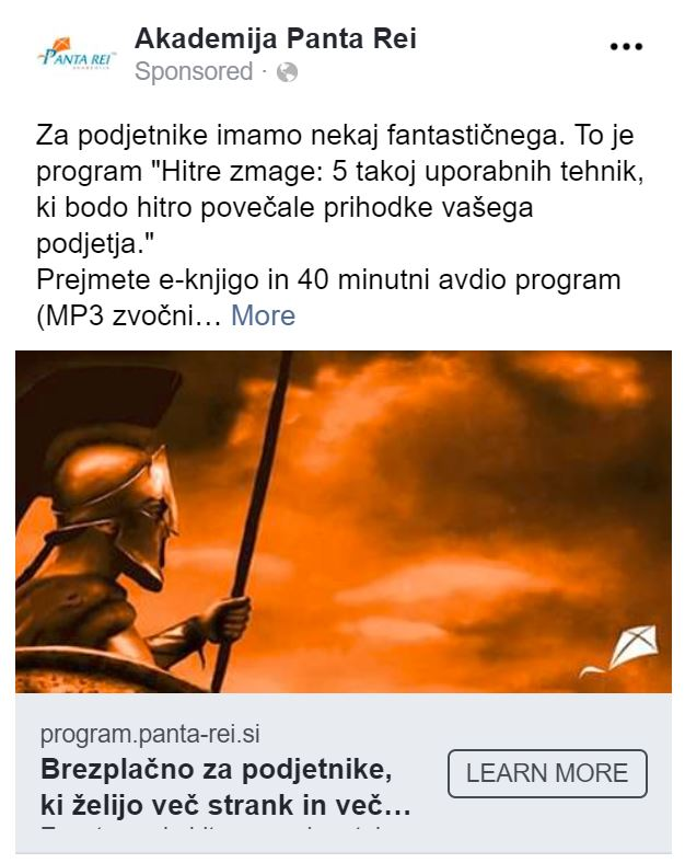 Marketinške akcije: kampanja za program Hitre zmage